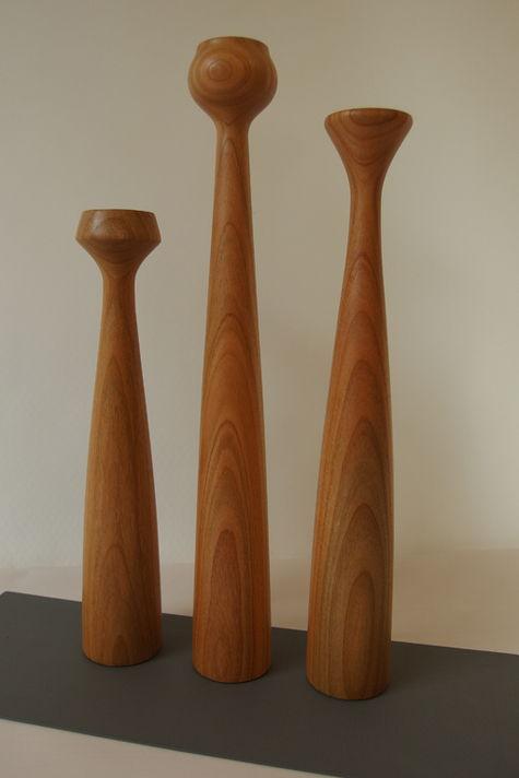 Kerzenhalter aus Kirschbaum